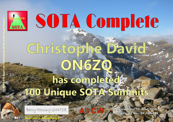 ON6ZQ SOTA Complete